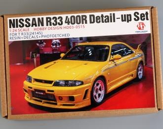 Конверсионный набор Nissan R33 400R Detail-up Sets для моделей T R33 24145 (Resin+PE+Decals+Metal parts)
