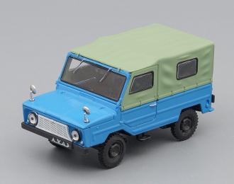 ЛУАЗ 969А Волынь, Автолегенды СССР 70, голубой / зеленый