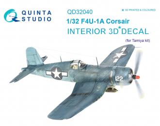 3D Декаль интерьера кабины F4U-1A Corsair (для модели Tamiya)