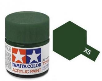 X-5 Green (краска акриловая, глянцевый зеленый), 10 мл.