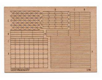 Паркет наборный Версальский квадрат, размер L