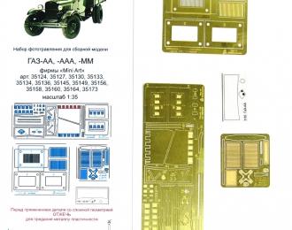 Фототравление Советский грузовой автомобиль Горький-АА, -ААА, -ММ