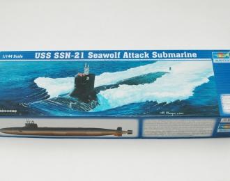 Сборная модель Американская подводная лодка USS SSN-21 Sea wolf