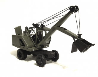 Сборная модель Экскаватор Э-302Б на пневмоколесном ходу