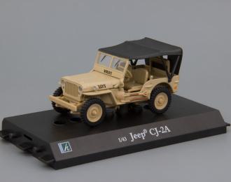 JEEP Willis CJ-2A песочный, с тентом