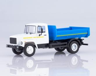 Горький-35072 самосвал, белый / голубой