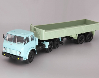 МАЗ-515 (6x4) + МАЗ-5205, голубой / зеленый