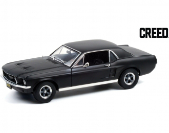 """FORD Mustang Coupe 1967 Matte Black (машина Адониса Крида из к/ф """"Крид: Наследие Рокки"""")"""
