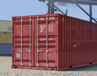 Сборная модель Аксессуары 20-ти футовый контейнер