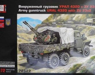 Сборная модель Миасский грузовик - 4320 с ЗУ-23-2