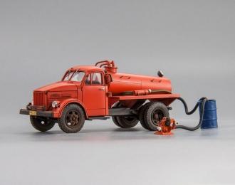 Сельская пожарная цистерна на АСМ-2 с мотопомпой МПГ 1200 в комплекте (со следами эксплуатации)