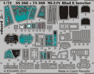Цветное фототравление для Mi-24V Hind E interior S. A. (интерьер)