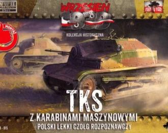 Сборная модель Разведывательная танкетка TKS с пулеметом