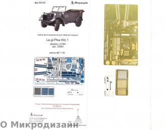 Фототравление Le.gl.Pkw Kfz.1 Немецкий штабной автомобиль (ICM)