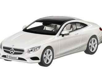 MERCEDES-BENZ S-Class C217 Coupe (2014), white diamond bright