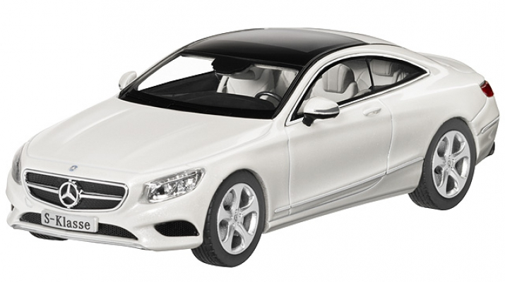 MERCEDES-BENZ S-Class C217 Coupe (2014), white diamond bright