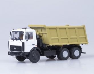 МАЗ 5516 самосвал, белый / желтый