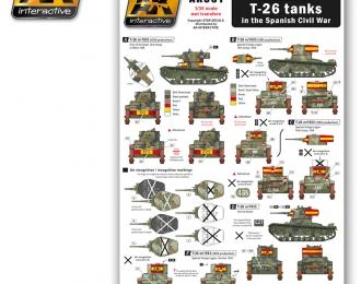 Nationalist T-26 tanks in the Spanish Civil War (декаль дляТ-26 на вооружении испанских националистов)
