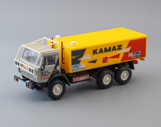 Камский грузовик 4310 #502 Ралли, серый / желтый