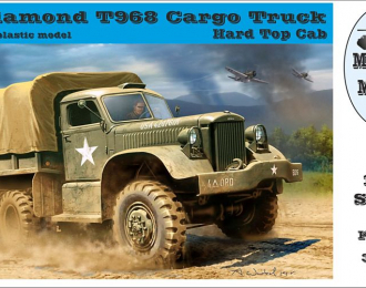 US Diamond T968 Cargo Truck Hard Top Cab
