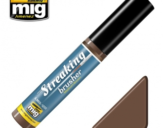 STREAKINGBRUSHER MEDIUM BROWN (Краска с тонкой кистью аппликатором)