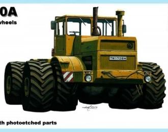 Сборная модель Трактор К-700А Кировец со спаренными колесами