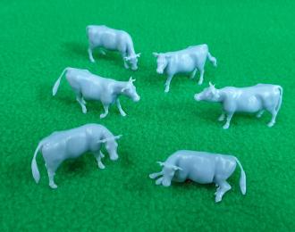 Сборная модель Набор фигурок Коровы, 6 шт