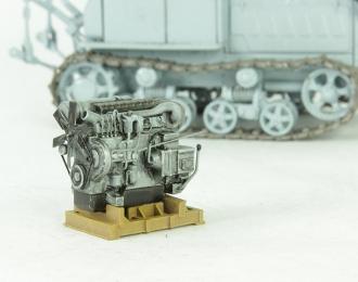 Двигатель тракторный на поддоне (серый)