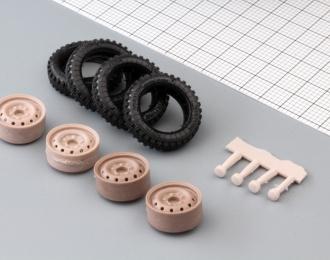 Набор колес для ВАЗ-2121 (штампованный диск, резина ВлИ-5)