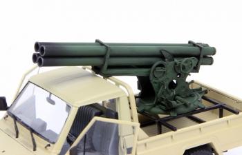Сборная модель Ракетная пусковая для установки в пикап