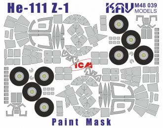 Окрасочная маска на остекление He-111Z-1 (ICM 48260)