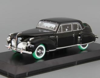 """LINCOLN Continental 1941 с пулевыми повреждениями (из к/ф """"Крёстный отец""""), black (зеленые колеса!)"""