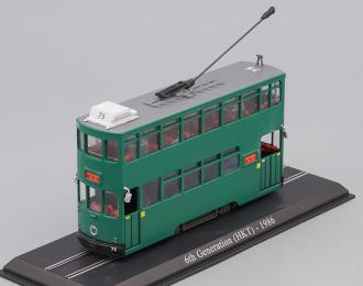 трамвай 6th Generation (HKT) Hong Kong Tram 1986 Green
