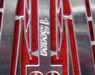 Фототравление Дворники 15мм, блестящий никель
