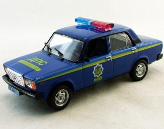 Волжский автомобиль 2107 ДПС Украины, Полицейские Машины Мира 29, т.синий