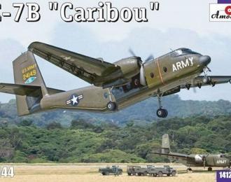 Сборная модель Американский военно-транспортный самолет C-7B  Caribou (DHC-4)