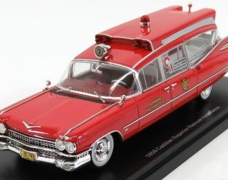 CADILLAC S&S Superior Rescuer Ambulance (скорая медицинская помощь) 1959 Red