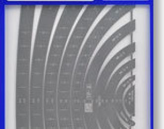 Набор шаблонов №2 (кривые линии)  TEMPLATE SET 2 ( CURVED LINE ) TP2 71102 (HASEGAWA)