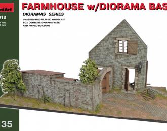 Сборная модель Сельский дом с основанием