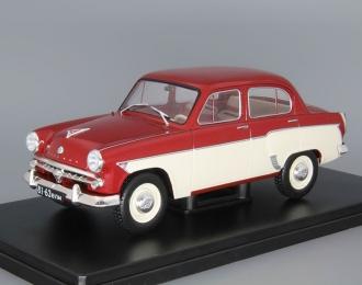 МОСКВИЧ-407, Легендарные Советские Автомобили 12, красный / белый