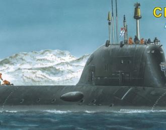 """Сборная модель атомная подводная лодка крылатых ракет """"Северодвинск"""""""