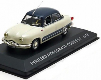 PANHARD Dyna Grand Standing (1958), creme-white / blue