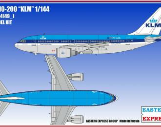 Сборная модель Авиалайнер А310-200 KLM