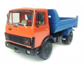 МАЗ 5551 самосвал (1985-1993), красный / синий