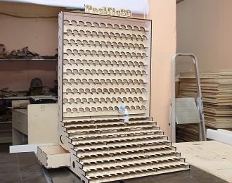 Winmodels Органайзер под краску Pacific88 23мм. и Pacific88 АЭРО 26 мм. с ящиком