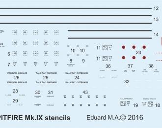 Декали для Spitfire Mk.IX stencils