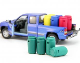 Набор пластиковых евробочек (127 литров) 4 шт, зеленый