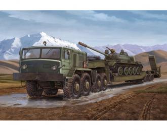 Сборная модель МАЗ-537 с прицепом
