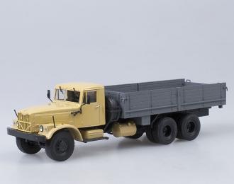 КРАЗ 257Б1 бортовой, бежевый / серый