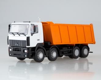 МАЗ 6516 самосвал 8x4, белый / оранжевый